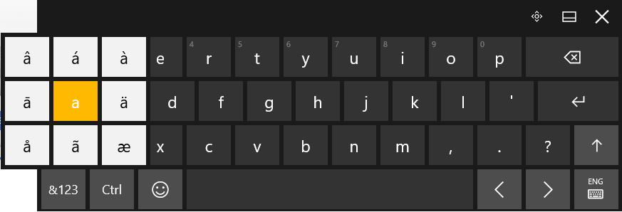 keyboard accents